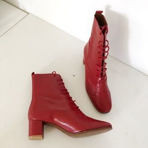 e4ce7479141c By Far Shoes - By Far Red Lada Leather Boots